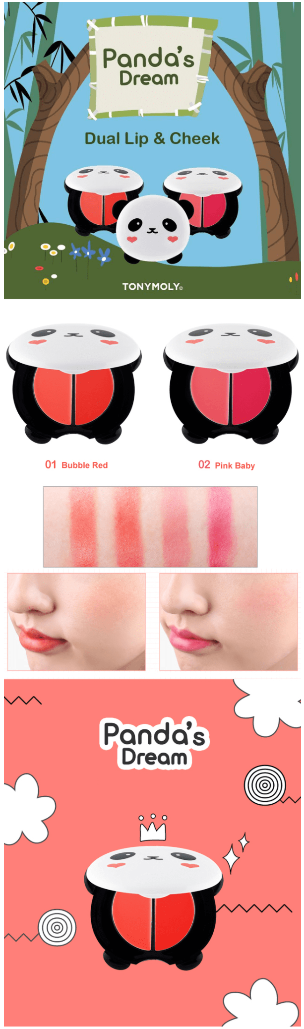 panda dual lip and cheek tonymoly-min
