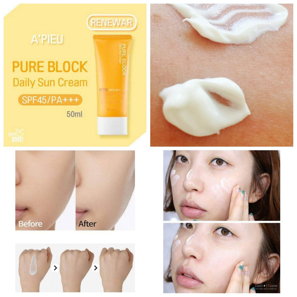 Pure Block Daily Sun Cream SPF45 PA+++[A'PIEU]