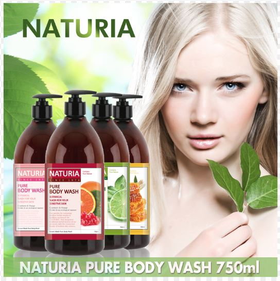 Naturia Pure Body Wash Honey & White Lily [EVAS]