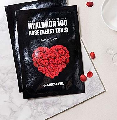 Hyaluron 100 Rose Energy Tox  Ampoule Mask [MEDI-PEEL]