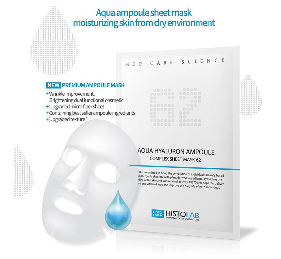 62 Aqua Hyaluron Ampoule Complex Sheet Mask [HISTOLAB]