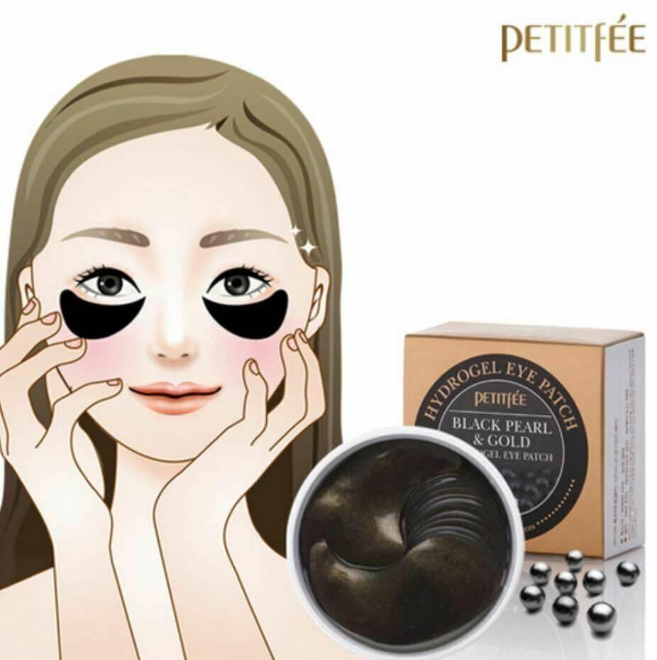 Black Pearl & Gold Hydrogel Eye Patch [Petitfee]