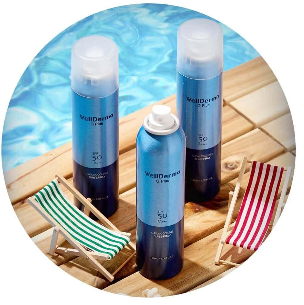 G Plus Cooling Sun Spray SPF50 PA++++ [Wellderma]
