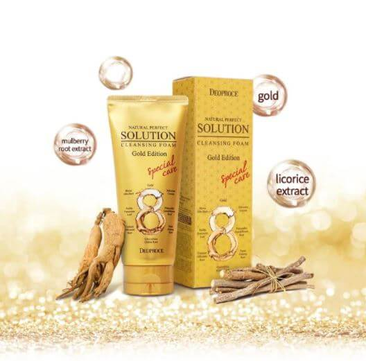 Natural Perfect Solution Cleansing Foam Gold [DEOPROCE]