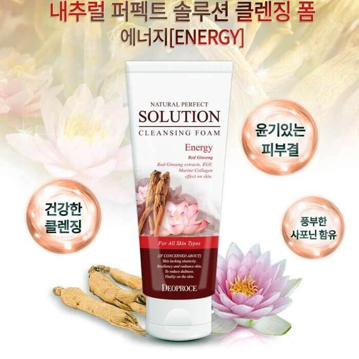 Natural Perfect Solution Cleansing Foam Red Ginseng [DEOPROCE]