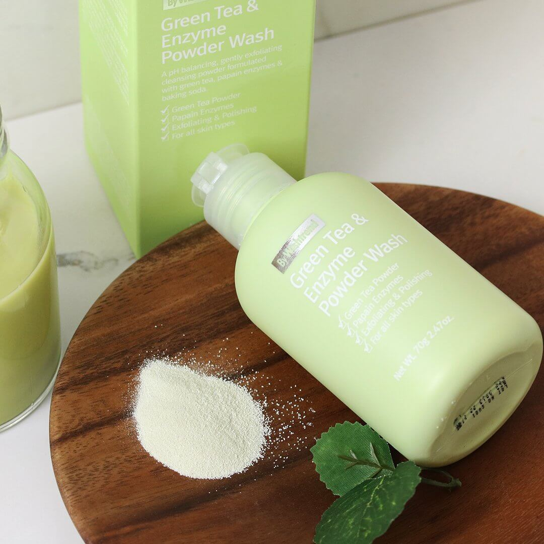 Green Tea & Enzyme Powder Wash [By Wishtrend]