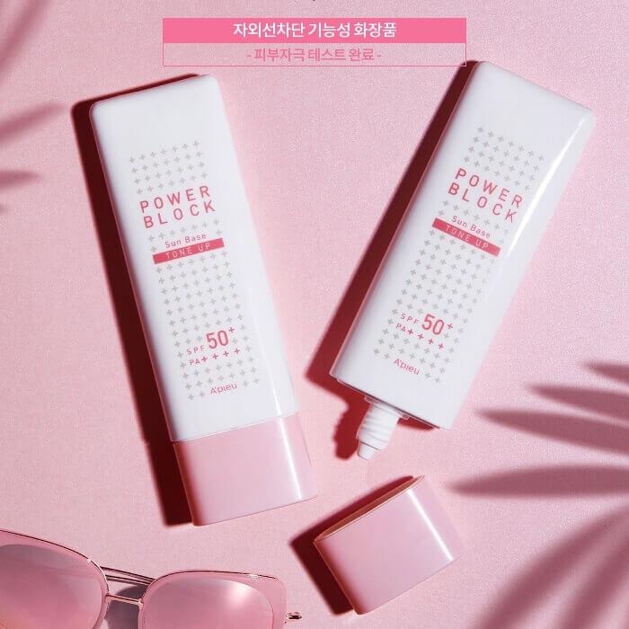 A'PIEU Pure Block Tone-Up Sun Base SPF50+ PA+++