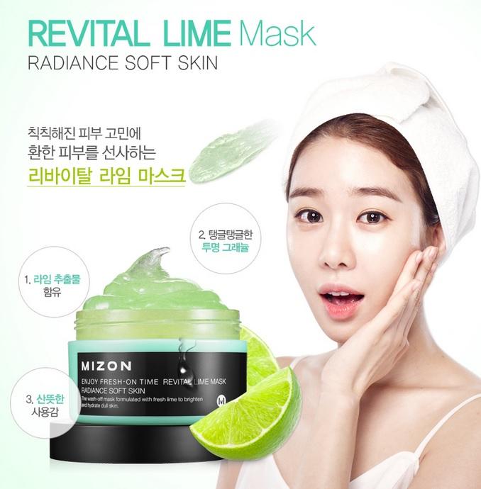 Enjoy Fresh - On Time Revital Lime Mask [Mizon]