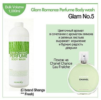 Glam Romance Perfume Body Wash Glam №5 [Secret Key]