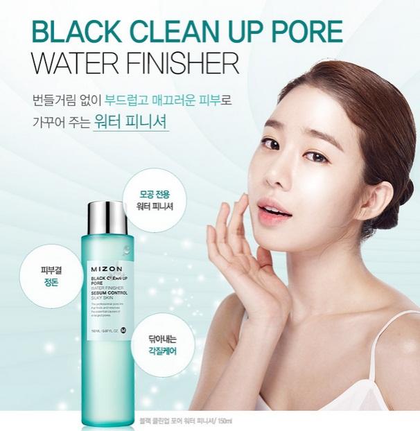 Black Clean Up Pore Water Finisher [Mizon]