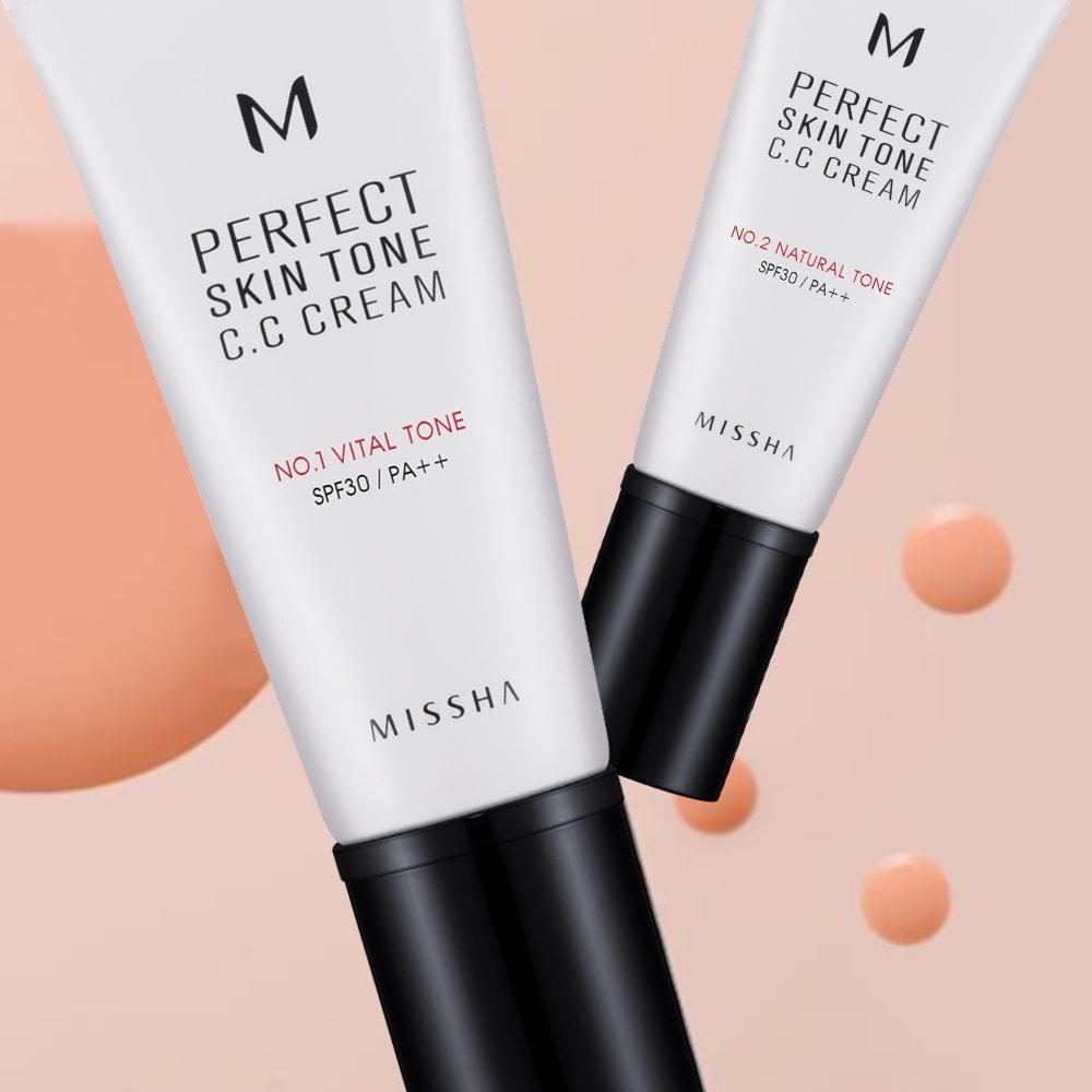 M Perfect Skin Tone C.C Cream [Missha]