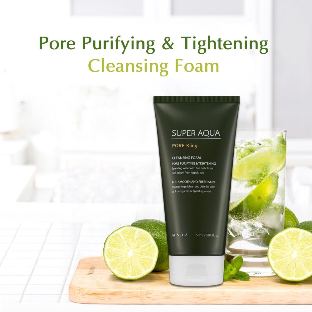 Super Aqua Pore-Kling Cleansing Foam [Missha]