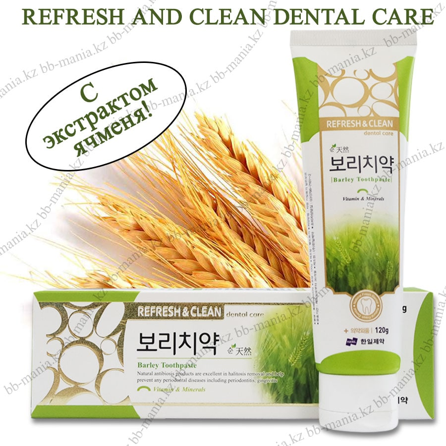 Refresh Clean Barley Toothpaste [Hanil Pharmaceutical]