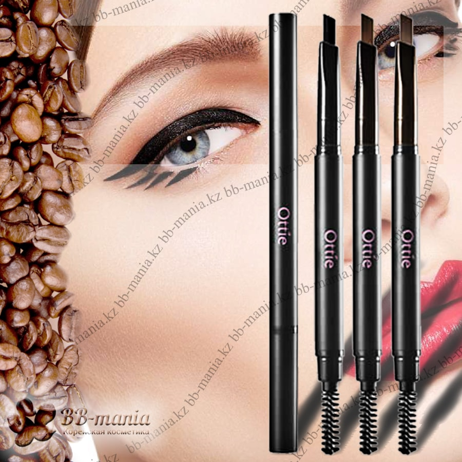Natural Drawing Auto Eye Brow Pencil [Ottie]