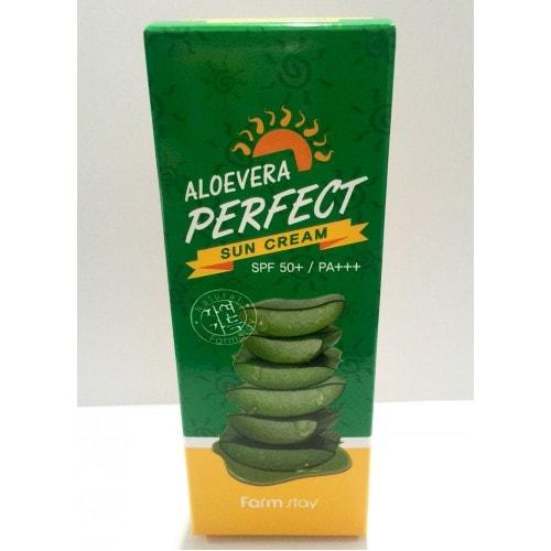 AloeVera Perfect Sun Cream SPF 50+/PA+++ [FarmStay]