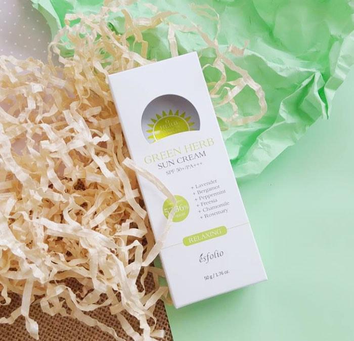 Green Herb Sun Cream SPF 50+/PA+++ [Esfolio]