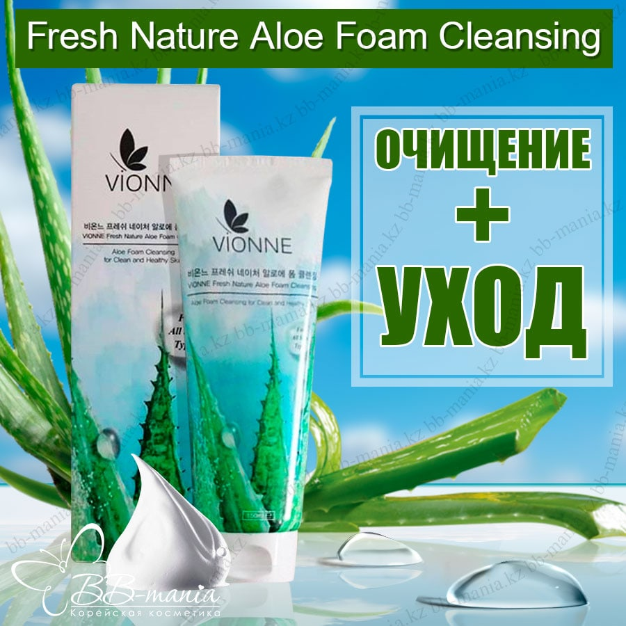 Fresh Nature Aloe Foam Cleansing [VIONNE]