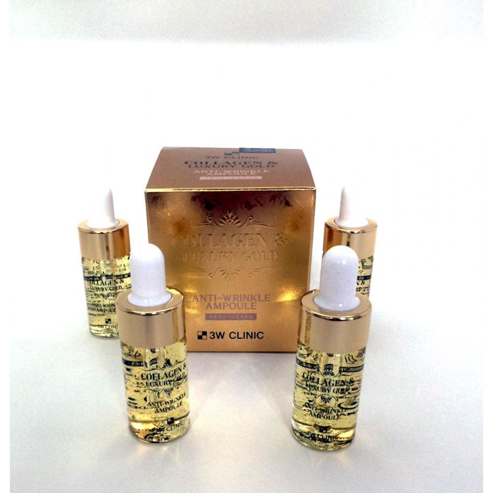 Collagen & Luxury Gold Anti-Wrinkle Ampoule [3W CLINIC]