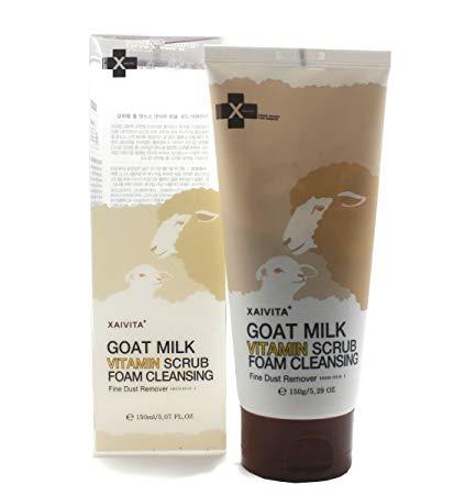 Goat Milk Vitamin Scrub Foam Cleansing [Xaivita+]