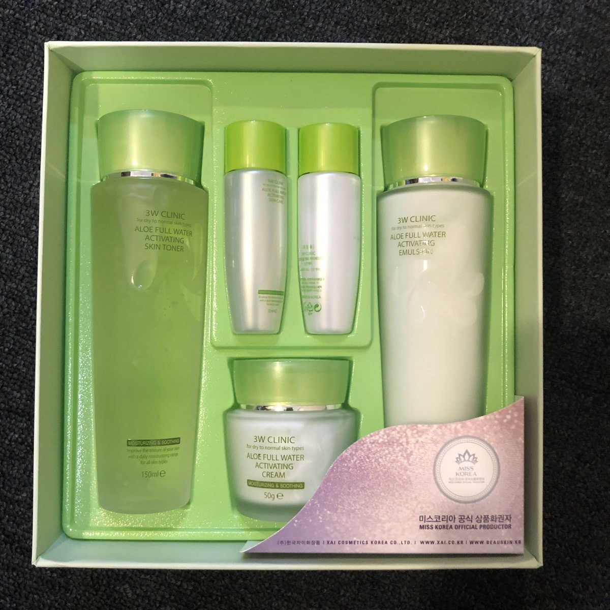 Aloe Full Water Activating Skin Set [3W CLINIC]