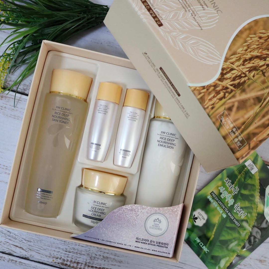 Rice Deep Nourishing Skin Care Set [3W CLINIC]