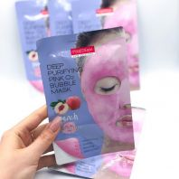 Deep Purifying Pink O2 Bubble Mask Peach [Purederm]