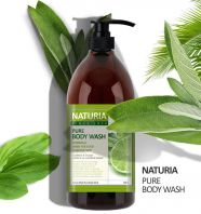 Naturia Pure Body Wash Wild Mint & Lime [EVAS]