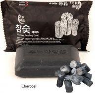 Charcoal Peeling Soap [Juno]