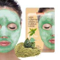 Deep Purifying Green O2 Bubble Mask Green Tea [PUREDERM]
