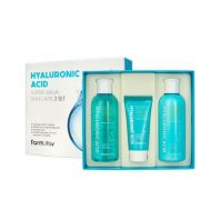 Hyaluronic Acid Super Aqua Skin Care 3 Set [Farmstay]
