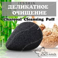 Charcoal Soft Jelly Cleansing Puff [It's Skin]