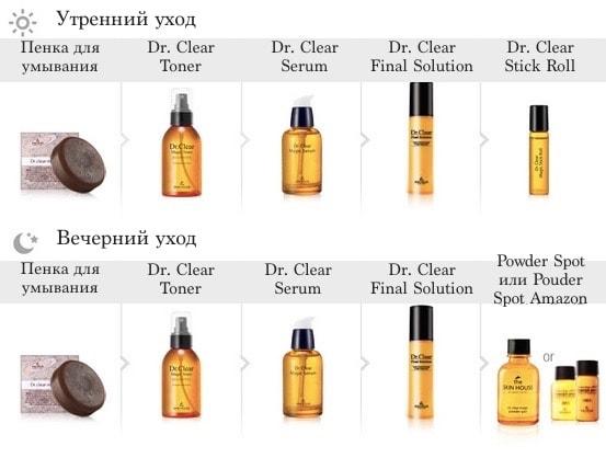 Dr. Clear Magic Serum способ применения-min