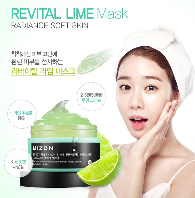 Enjoy Fresh - On Time Revital Lime Mask [Mizon]