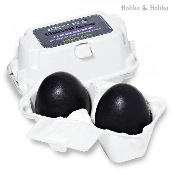 Charcoal Egg Soap [Holika Holika]