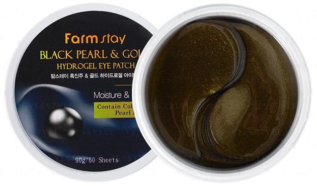 Black Pearl and Gold hydrogel Eye Patch [FarmStay]