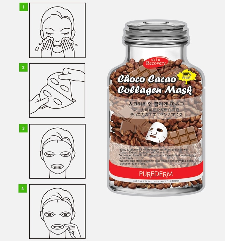 Choco Cacao Collagen Mask [Purederm]