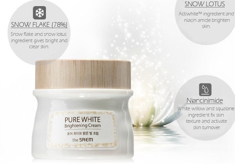 Pure White Brightening Cream [The Saem]