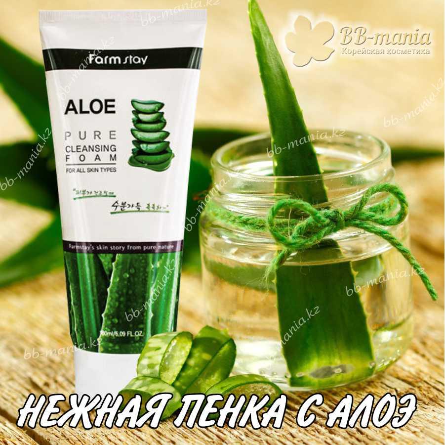 Aloe Pure Cleansing Foam [FarmStay]