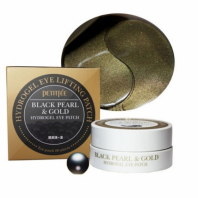 Black Pearl & Gold Hydrogel Eye Patch [Petitfee]