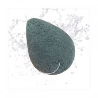Charcoal & Konjac Cleansing Puff [The Face Shop]