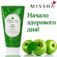 Frui-Tea Cleansing Foam Green Apple [Missha]