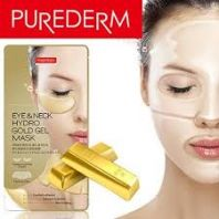 Eye & Neck Hydro Gold Gel Mask [Purederm]