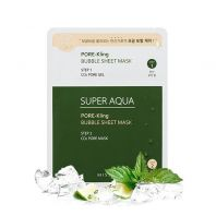 Super Aqua Pore-Kling Bubble Sheet Mask [Missha]