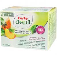 Depilatory Warm Wax Jar With Peach and Papaya [Byly]